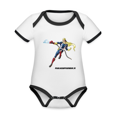 Captain Firefighter - Baby Bio-Kurzarm-Kontrastbody