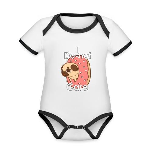 i do nut care tshirt - Baby contrasterend bio-rompertje met korte mouwen