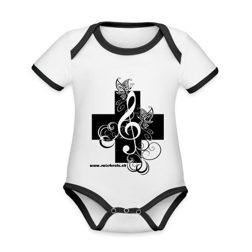 Swiss Beatz Logo non L - Baby Bio-Kurzarm-Kontrastbody