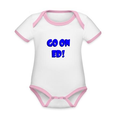 Go on Ed - Organic Baby Contrasting Bodysuit