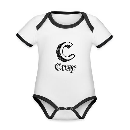 Cray Anstecker - Baby Bio-Kurzarm-Kontrastbody