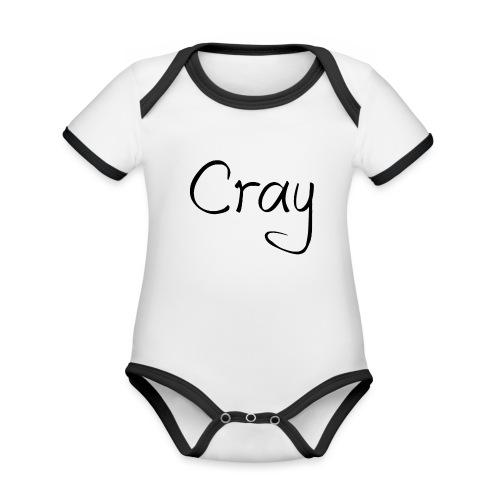 Cray Black Schrifft - Baby Bio-Kurzarm-Kontrastbody