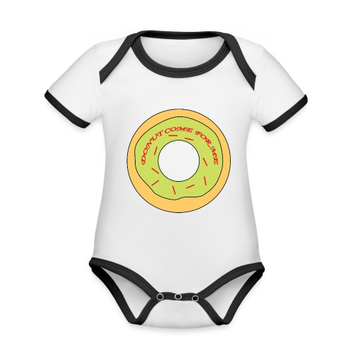 Donut Come For Me Red - Organic Baby Contrasting Bodysuit