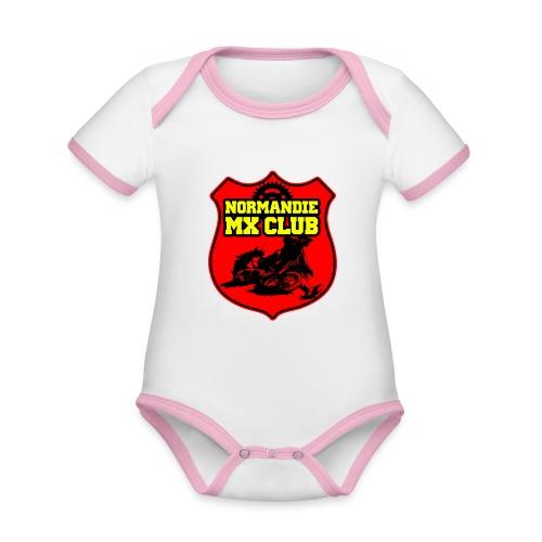 Casquette Normandie MX Club - Body Bébé bio contrasté manches courtes