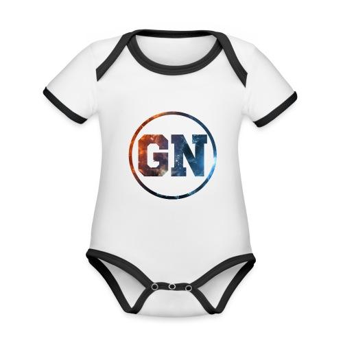 GainsNation galaxy - Ekologisk kontrastfärgad kortärmad babybody