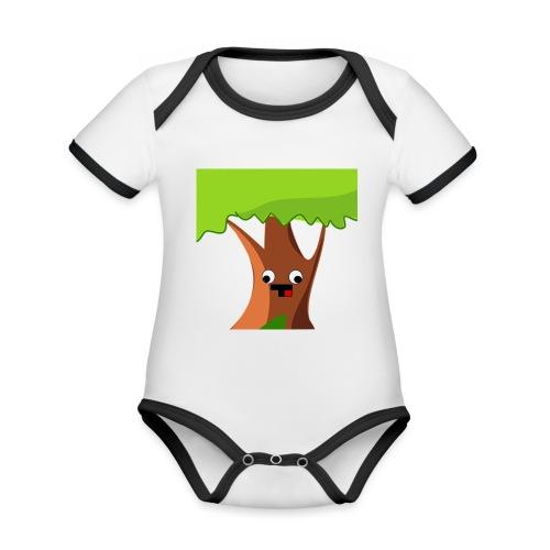 AlphaBaum - Baby Bio-Kurzarm-Kontrastbody