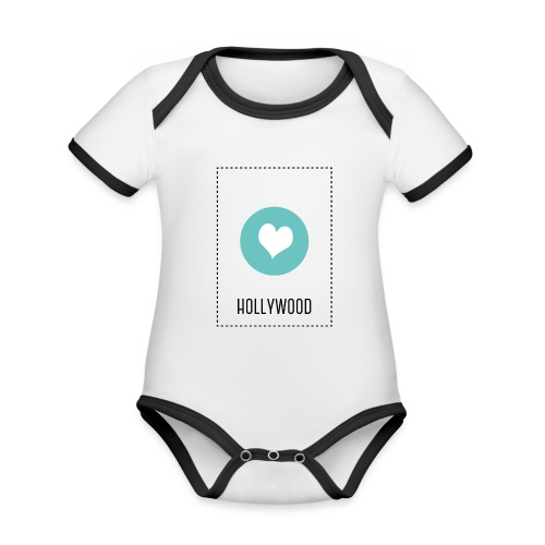 I Love Hollywood - Baby Bio-Kurzarm-Kontrastbody
