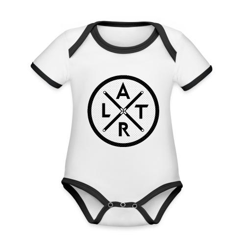 Wheel Hoodie White - Ekologiczne body niemowlęce z krótkim rękawem i kontrastowymi lamówkami