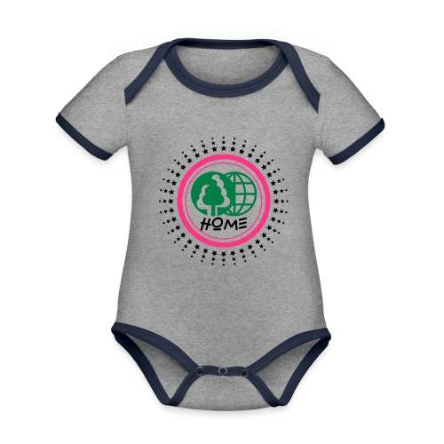 Planète home sweet home - Organic Baby Contrasting Bodysuit