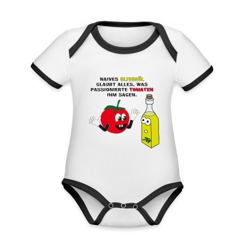 Tomate und Olivenöl - Baby Bio-Kurzarm-Kontrastbody