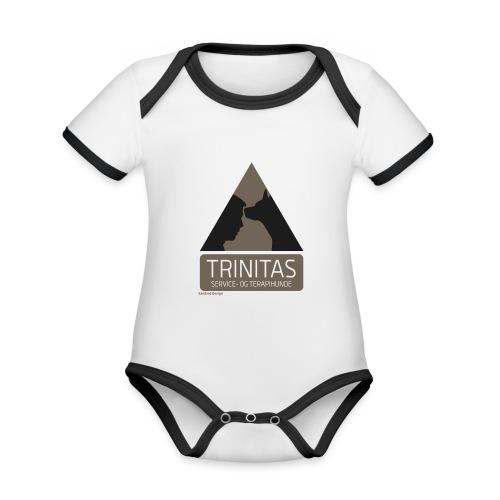 Trinitas Nøglesnor - Kortærmet økologisk babybody i kontrastfarver