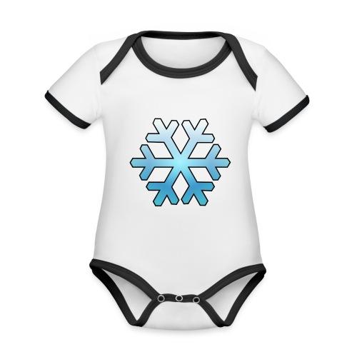 Schneeflocke - Baby Bio-Kurzarm-Kontrastbody