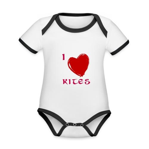 love kites - Organic Baby Contrasting Bodysuit