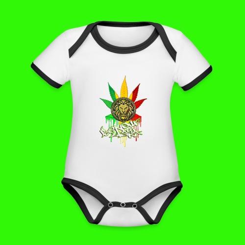 benoufAKAlion - Body Bébé bio contrasté manches courtes