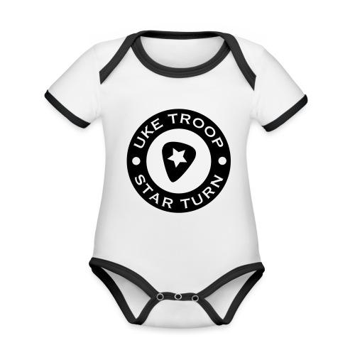 uke troop small - Organic Baby Contrasting Bodysuit