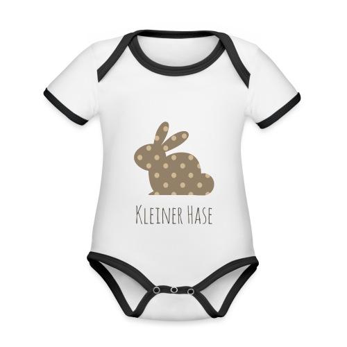 Kleiner Hase - Baby Bio-Kurzarm-Kontrastbody