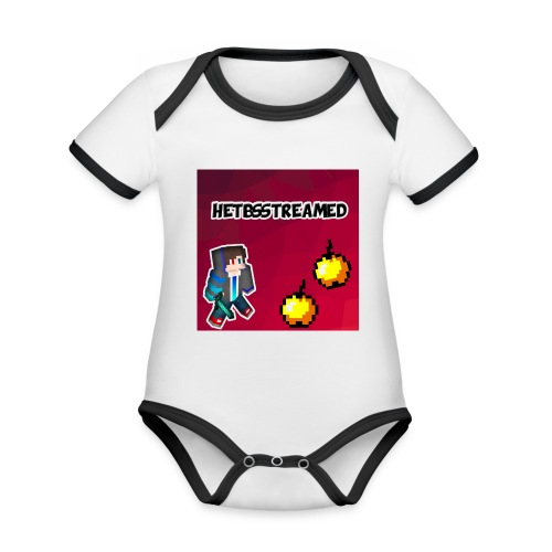 Logo kleding - Baby contrasterend bio-rompertje met korte mouwen