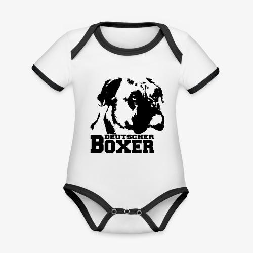 Deutscher Boxer - Baby Bio-Kurzarm-Kontrastbody
