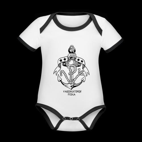 VP Ankkuri - Vauvan kontrastivärinen, lyhythihainen luomu-body
