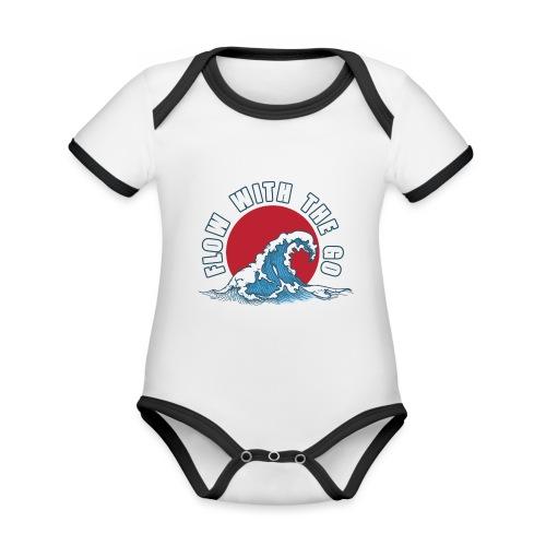 flow with the go - Ekologiczne body niemowlęce z krótkim rękawem i kontrastowymi lamówkami
