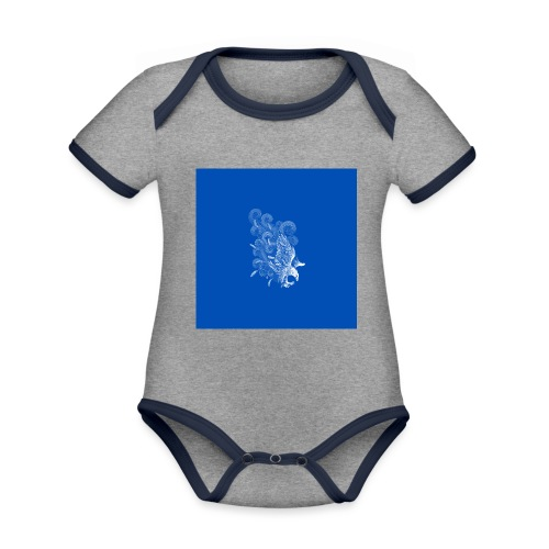 Windy Wings Blue - Organic Baby Contrasting Bodysuit