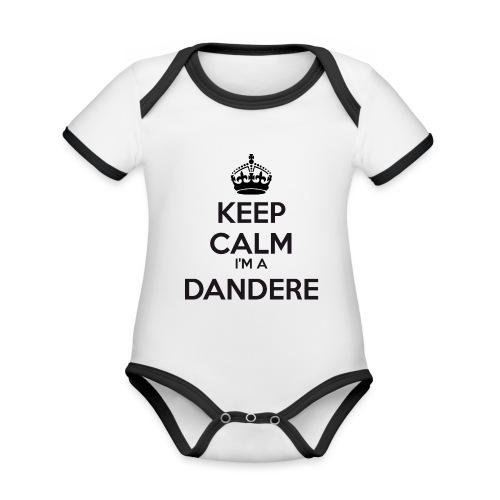 Dandere keep calm - Organic Baby Contrasting Bodysuit