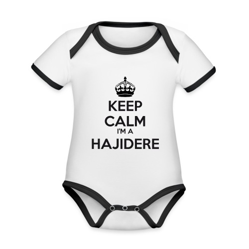 Hajidere keep calm - Organic Baby Contrasting Bodysuit