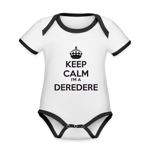 Deredere keep calm - Organic Baby Contrasting Bodysuit