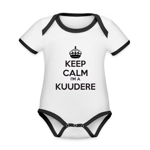Kuudere keep calm - Organic Baby Contrasting Bodysuit
