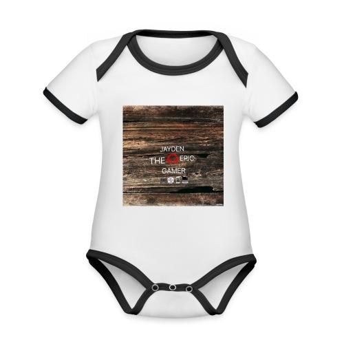 Jays cap - Organic Baby Contrasting Bodysuit