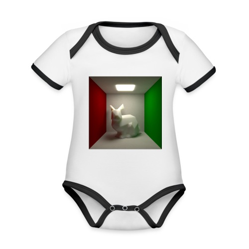 Bunny in a Box - Organic Baby Contrasting Bodysuit