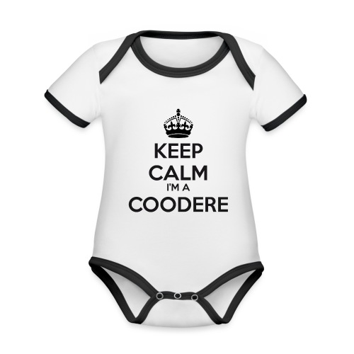 Coodere keep calm - Organic Baby Contrasting Bodysuit