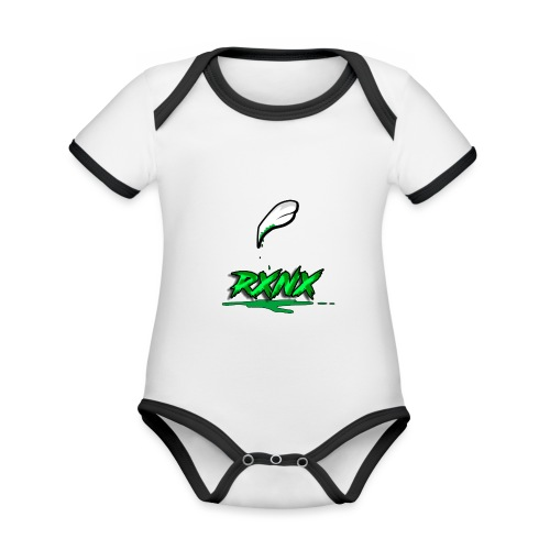 claw rx - Body da neonato a manica corta, ecologico e in contrasto cromatico