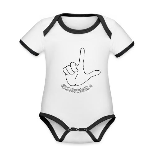 Dedo Big - #RetoPedaEla - Body contraste para bebé de tejido orgánico