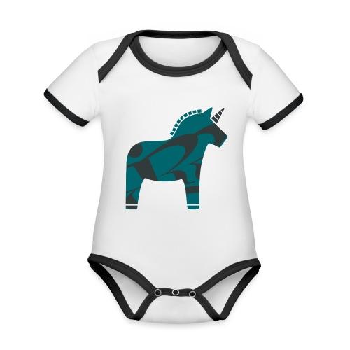 Swedish Unicorn - Baby Bio-Kurzarm-Kontrastbody