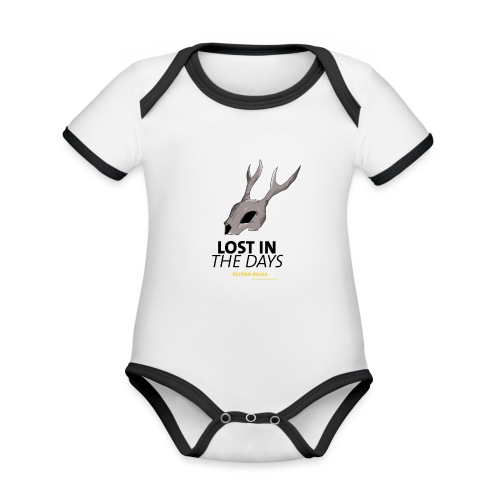 crane sky visu t shirt2 png - Body Bébé bio contrasté manches courtes