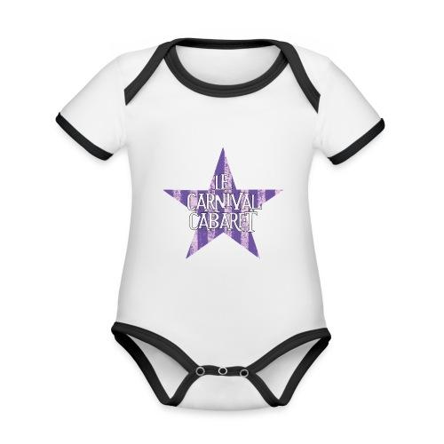 bonnet LCC noir etoie violette - Organic Baby Contrasting Bodysuit