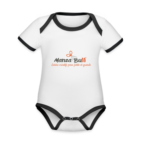 ManzaBull - Body Bébé bio contrasté manches courtes