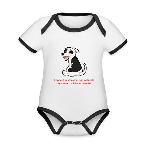 Aforisma cinofilo - Body da neonato a manica corta, ecologico e in contrasto cromatico
