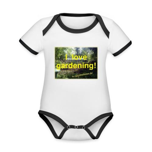I love gardening - Garten - Baby Bio-Kurzarm-Kontrastbody