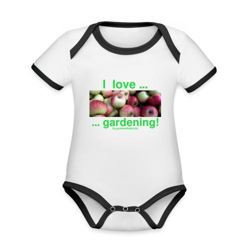 Äpfel - I love gardening! - Baby Bio-Kurzarm-Kontrastbody