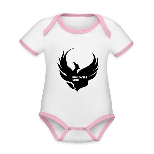 Runlovers Club v2 - Body da neonato a manica corta, ecologico e in contrasto cromatico