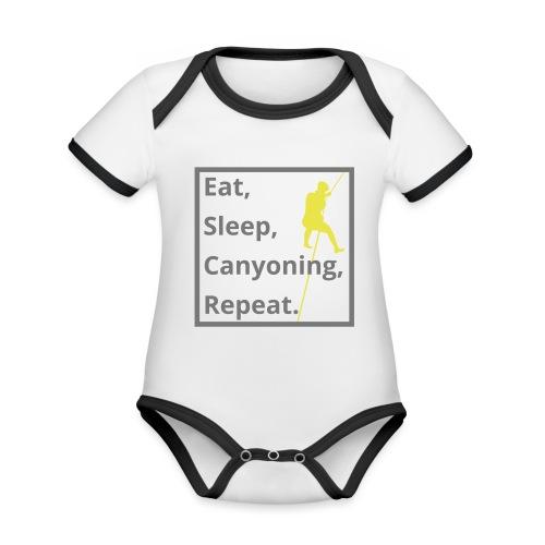 eat sleep canyoning repeat - Baby Bio-Kurzarm-Kontrastbody