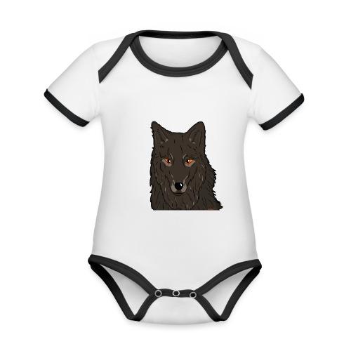 HikingMantis Wolf png - Kortærmet økologisk babybody i kontrastfarver