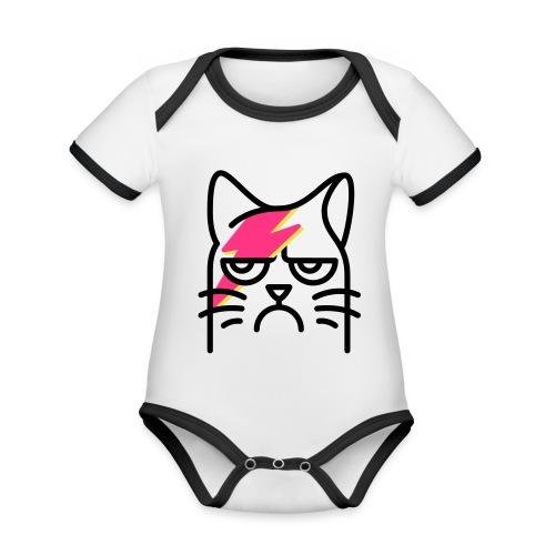 ODT Meowie - Baby Bio-Kurzarm-Kontrastbody