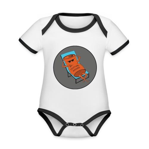 Festivalpodden - Loggan - Ekologisk kontrastfärgad kortärmad babybody
