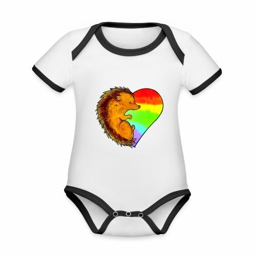 RICCIO - Body da neonato a manica corta, ecologico e in contrasto cromatico