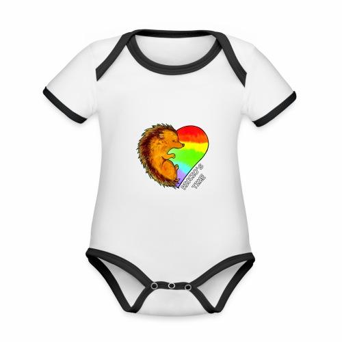 RICCIO'S TIME - Body da neonato a manica corta, ecologico e in contrasto cromatico