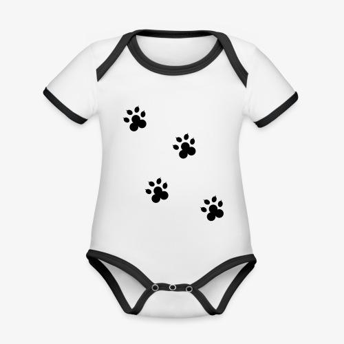 cat - Ekologiczne body niemowlęce z krótkim rękawem i kontrastowymi lamówkami