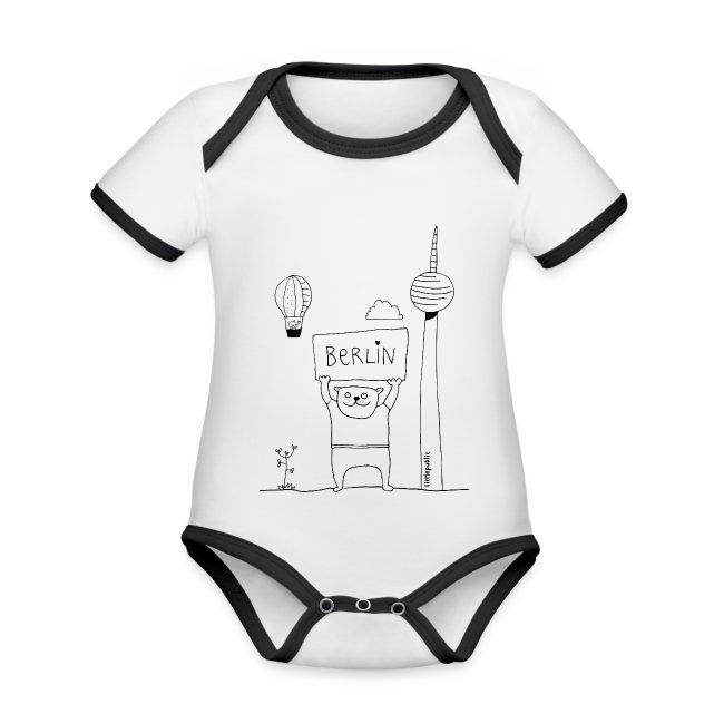 Berliner Bär Zum Ausmalen Littlepublic Baby Bio Kurzarm Kontrastbody